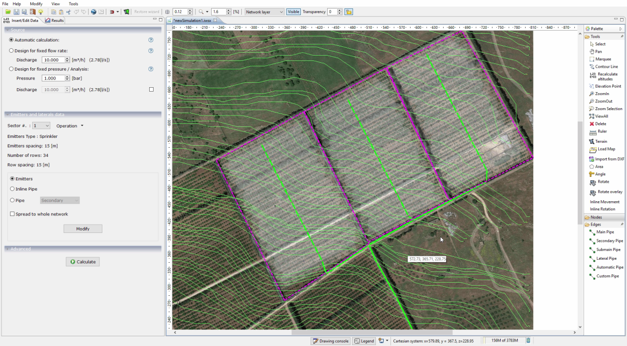 irripro progettazione impianti irrigazione software di