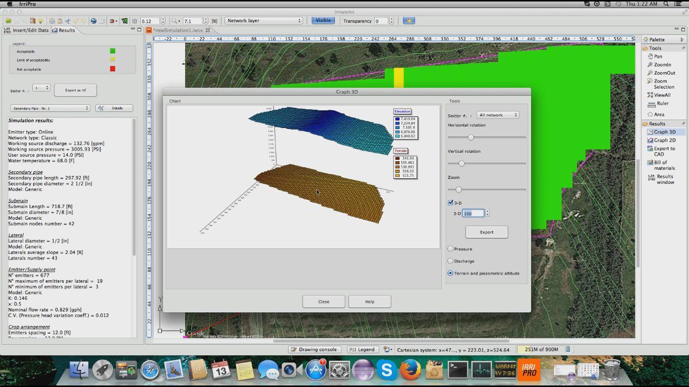 IrriPro MAC full screenshot