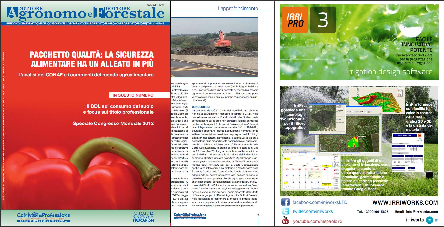 Rassegna stampa progettazione impianti irrigazione for Software progettazione impianti irrigazione gratis