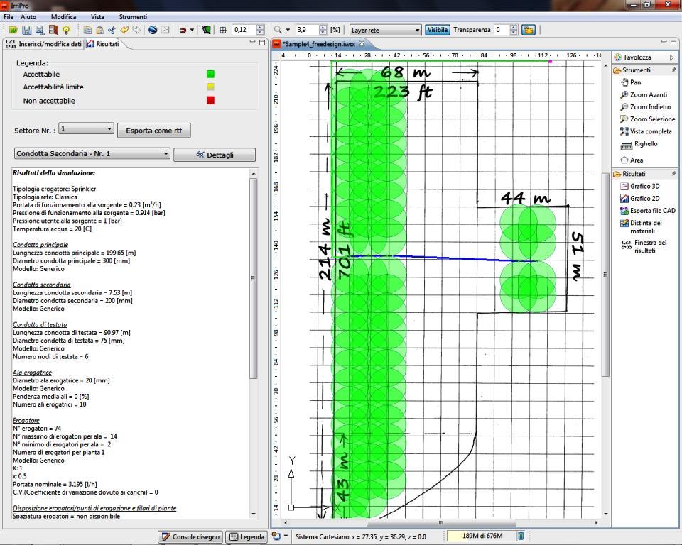 Progetti sample progettazione impianti irrigazione for Progetto irrigazione