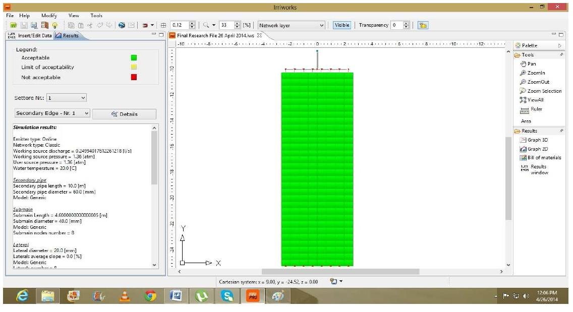 The hydraulic calculation - Irrigation Software - Irrigation